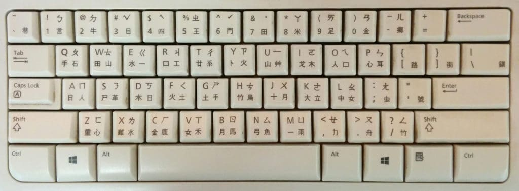 How do Chinese keyboards work