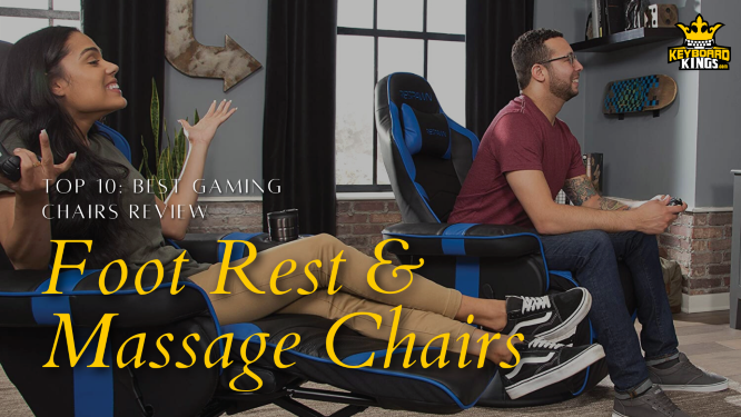 Gaming Chairs with Footrest and Massage