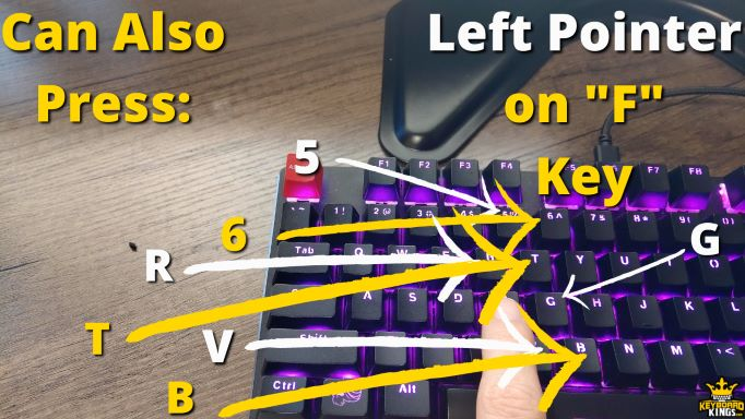 Keys Left Pointer Finger can Press in Addition to F