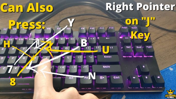 Keys Right Pointer Finge can Press in Addition to J