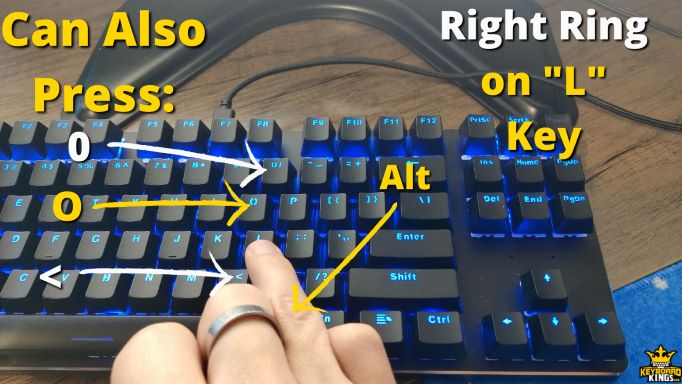 Keys Right Ring Finger can Press in Addition to L