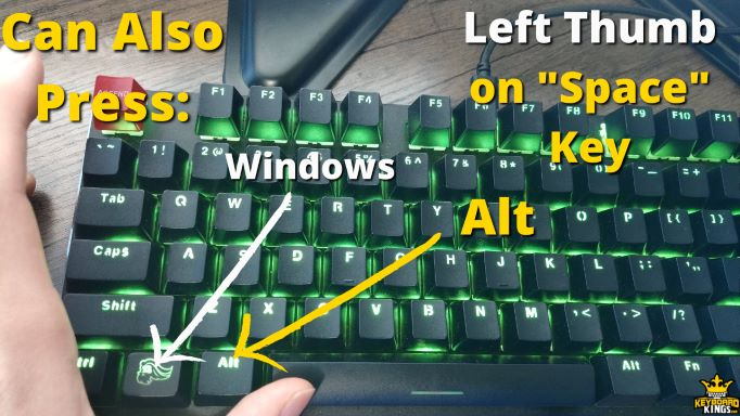 Keys You can Press in Addition to Spacebar with Left thumb.