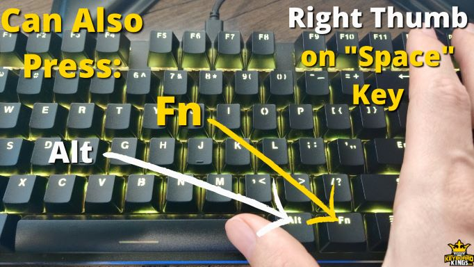 Keys You can Press in Addition to Spacebar with the Right Thumb