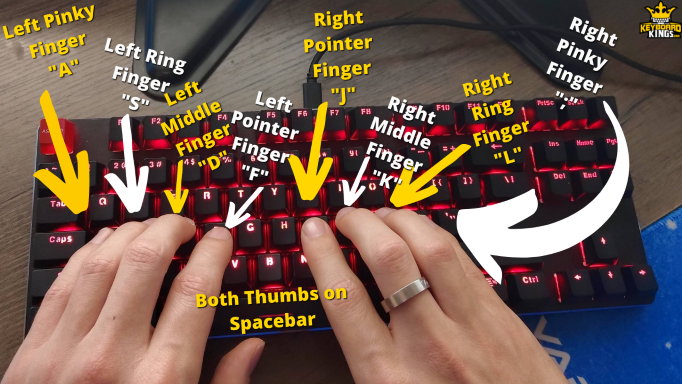 The 10-Finger Keyboard Positioning Technique