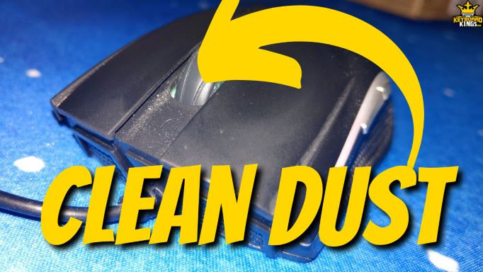 quiet mouse by cleaning dust